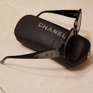 Chanel Swarovski rhinestone sunglasses